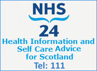 If you need medical advice or assistance out of hours, you can contact NHS 24 on 111